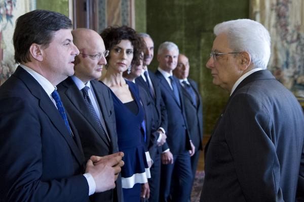 Il Ministro Calenda e il Presidente della Repubblica Mattarella