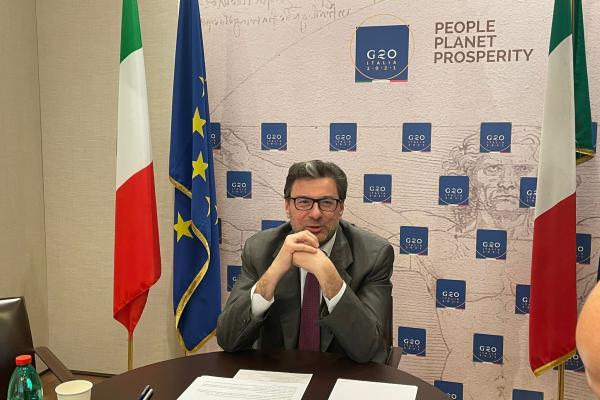 Il ministro Giorgetti