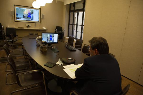 La sala della videoconferenza