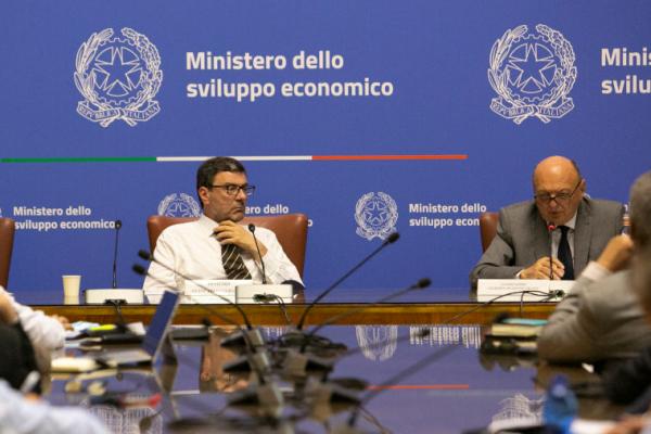 Il ministro Giorgetti e il vice ministro Pichetto